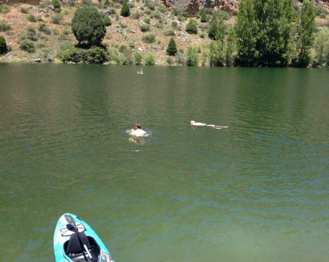 bañarse en el río Duratón
