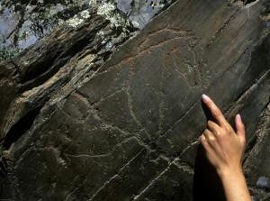 Grabado rupestre de Siega Verde.Valle del Agueda.
