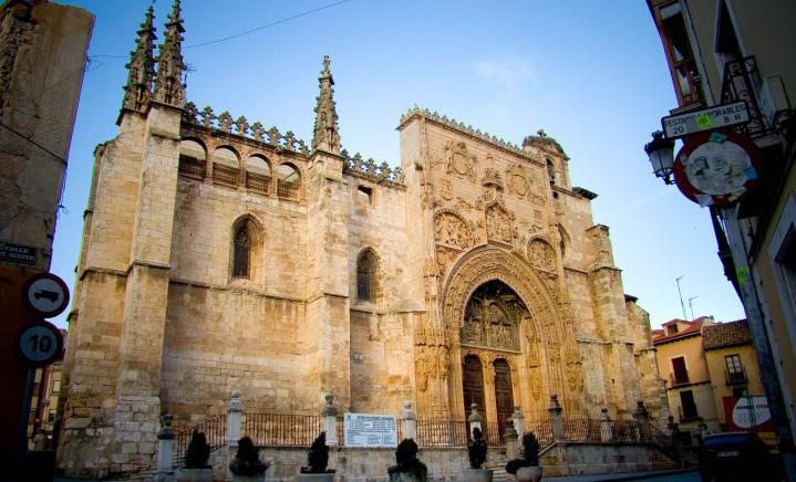 Fachada de Santa María la Real de Aranda de Duero