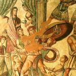 Mosaico del Oecus de Aquiles