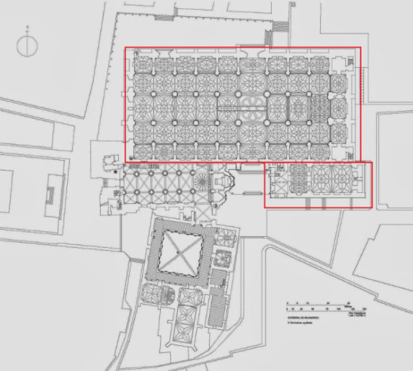 Planta de la Catedral nueva de Salamanca - Destino Castilla y León