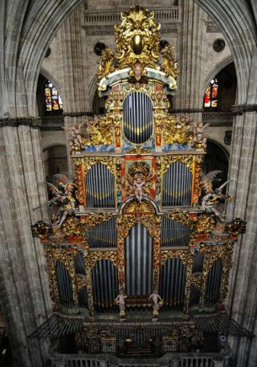 Organo barroco de Catedral nueva de Salamanca