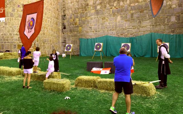 Exhibiciones y actividades de arqueros junto a la muralla de Ávila - Destino Castilla y León