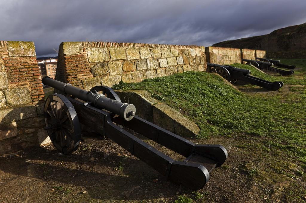 Cañones sobre la muralla de Ciudad Rodrigo - Foto cortesía de Eduardo-Estellez