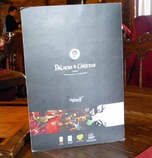 Comer en el Palacio de Canedo Carta del Restaurante Palacio de Canedo