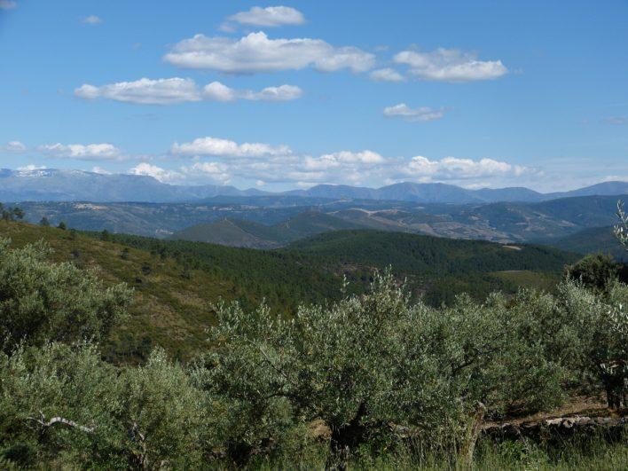 Vistas de la Sierra de Francia desde Herguijuela de la Sierra, Salamanca
