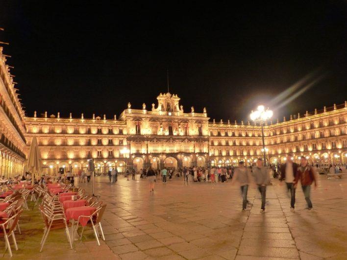 Ayuntamiento de Salamanca de noche 2