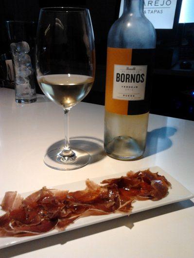 Maridaje de vino blanco Palacio de Bornos 100% verdejo del 2012