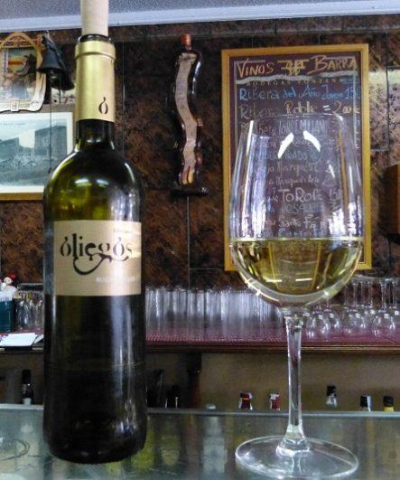 Vino blanco Oliegas en comer en Arévalo