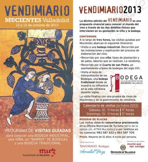 Programa de Vendimiario 2013 en Mucientes (Valladolid)
