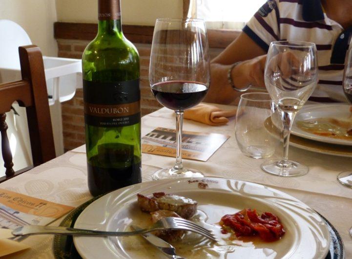 Maridaje del vino roble 'Valdubón'