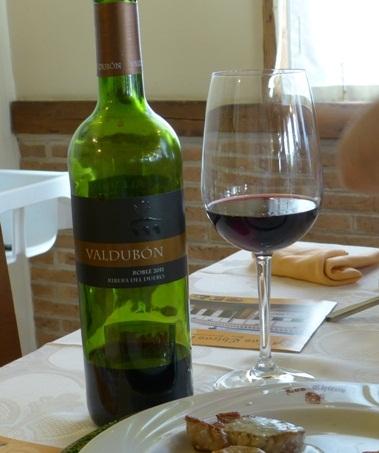 Botella de vino roble 'Valdubón'