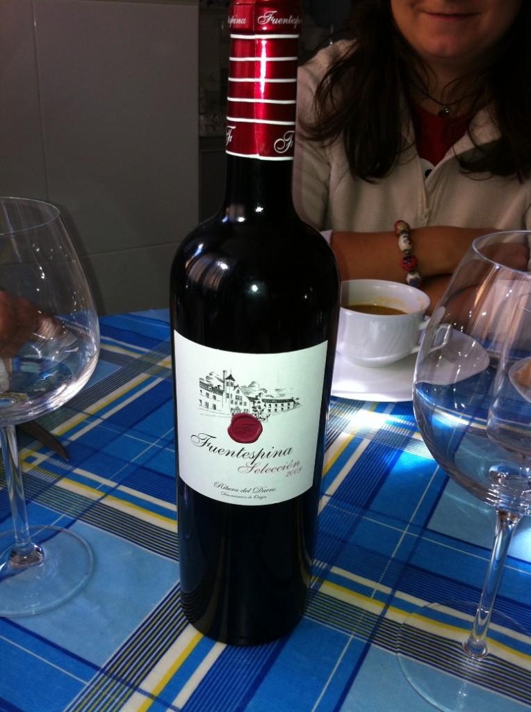 Botella del Tinto Fuentespina Seleccion