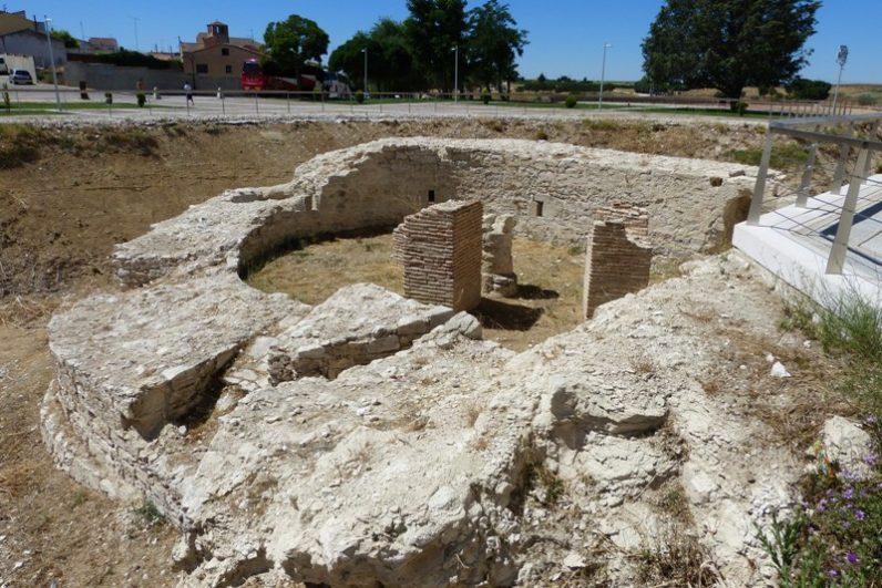 Baluarte desenterrado del castillo de Arévalo