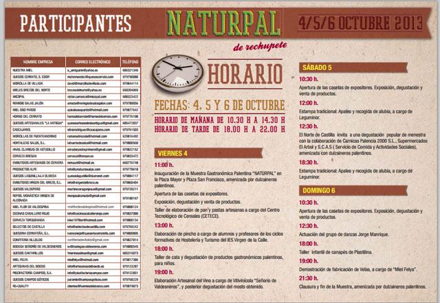 Programa de Naturpal 2013