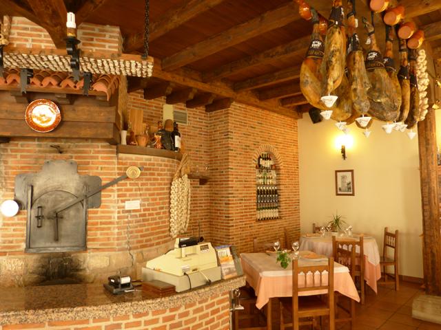 Horno de leña en el Restaurante los Chicos en Tierra de Pinares