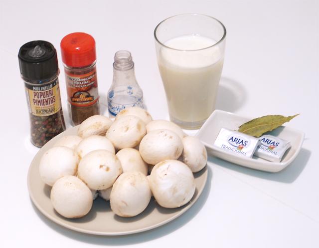 Champiñones a la crema_ingredientes