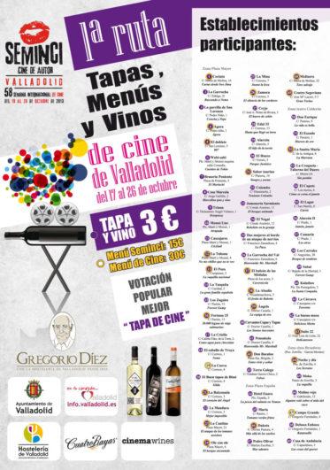 1º ruta tapas, menús y vinos Seminci 2013