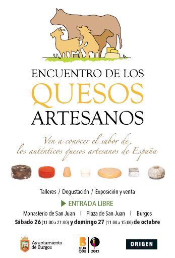 Encuentro de quesos artesanos en Burgos, capital de la gastronomía 2013