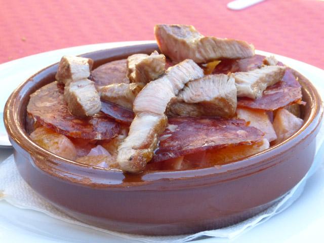 Ensalada Serrana típica de la Alberca