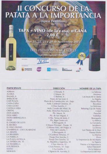 II Concurso Patatas a la Importancia, Palencia
