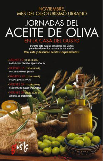 cartel jornadas del aceite de oliva en Valladolid