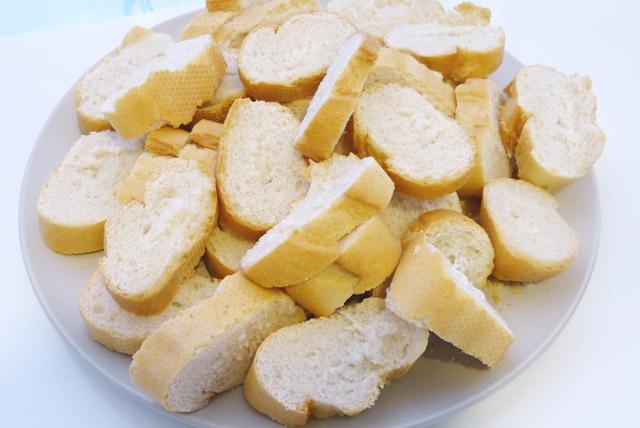 rodajas de pan
