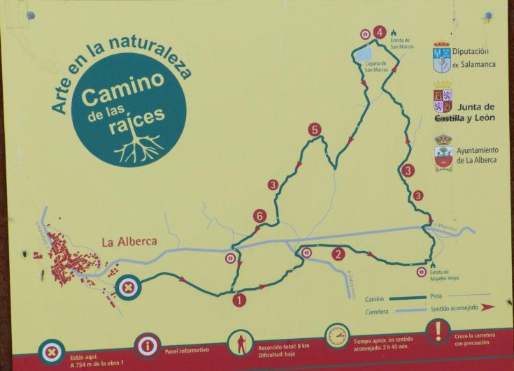 ruta de las raices en la Alberca