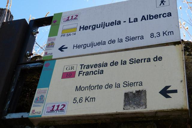 rutas de senderismo en la Alberca