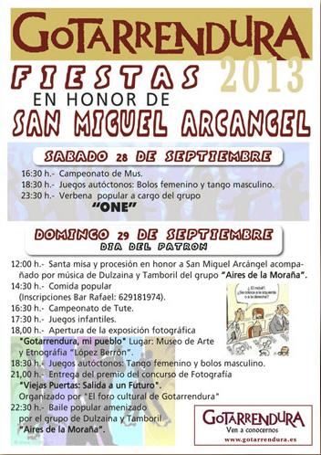 Jornadas y Fiestas de la Matanza en Castilla y León - Cartel de la Matanza Gotarrendura 2013, Ávila