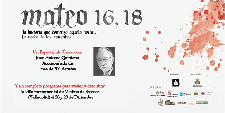 Portada Mateo 16, 18 Medina de Rioseco