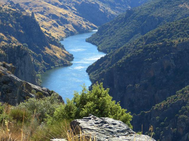 Vistas de los Arribes del Duero desde Fariza en Zamora