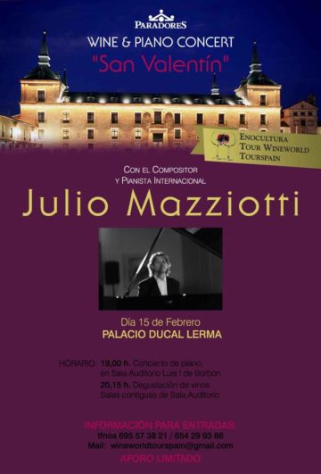 Concierto Julio Mazziotti 15 de febrero en Lerma, Burgos