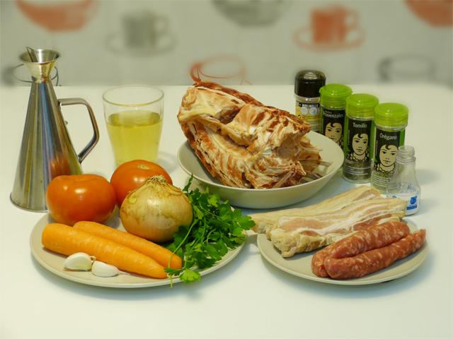 Ingredientes de la receta de costillas de cordero a la zamorana