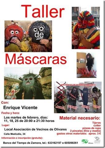 Taller de mascaradas en Zamora