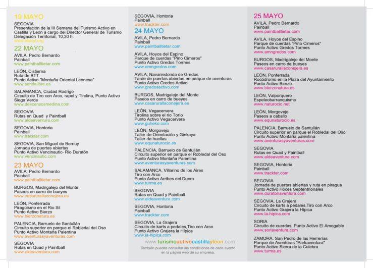 Programa Semana Turismo Activo en Castilla y León 2014