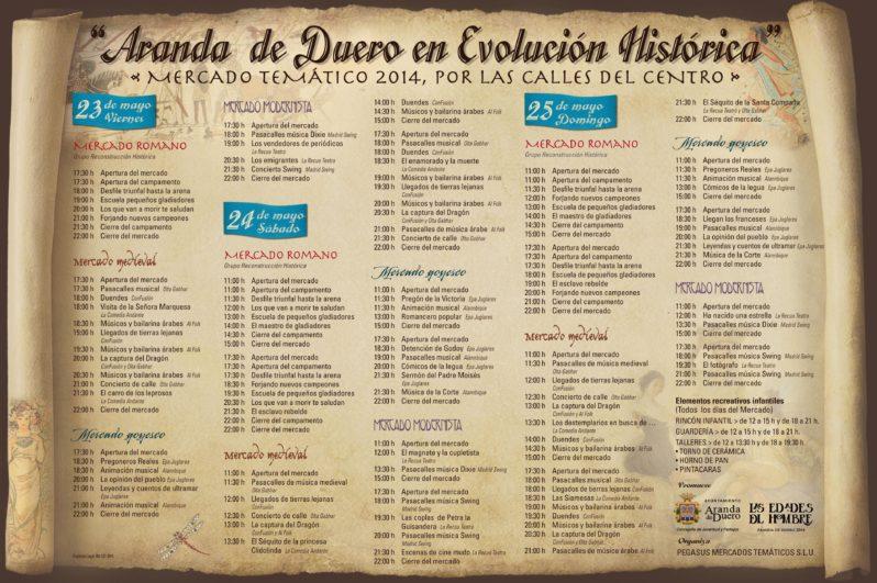 Cartel Mercado de las 4 culturas Aranda de Duero 2014