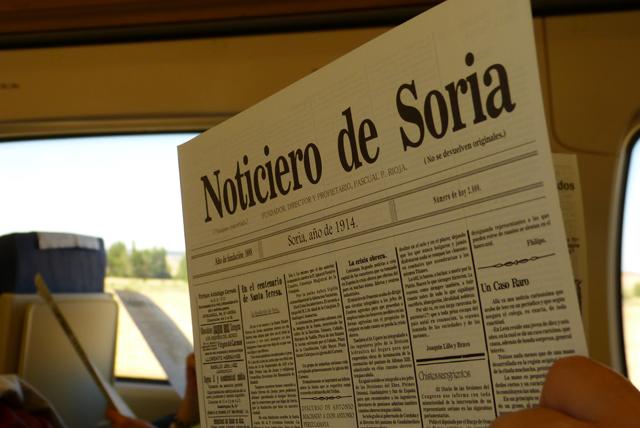 Noticiero de Soria 1914 - Tren Campos de Castilla