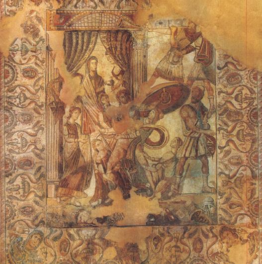 Mosaico de Oecus_Villa Romana la Olmeda (Palencia)