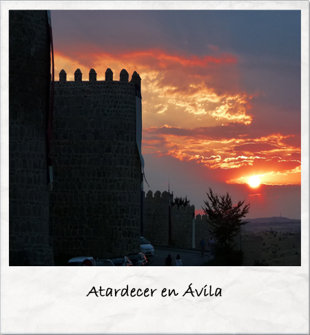 Atardecer en Ávila Fuente: http://miobjetivosontusojos.blogspot.com.es/