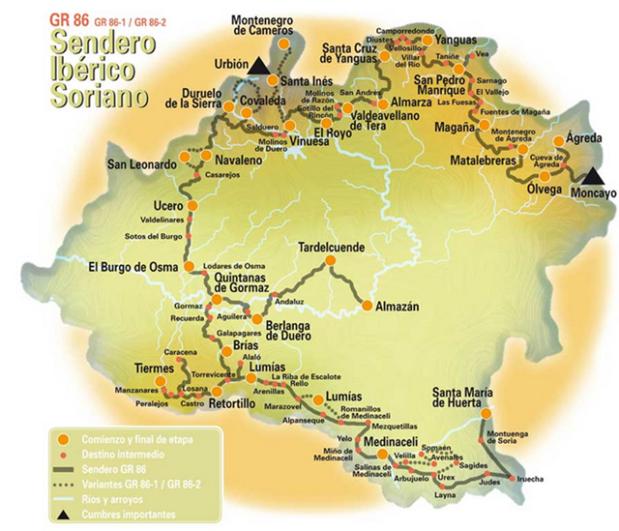 Mapa sendero ibérico soriano_web