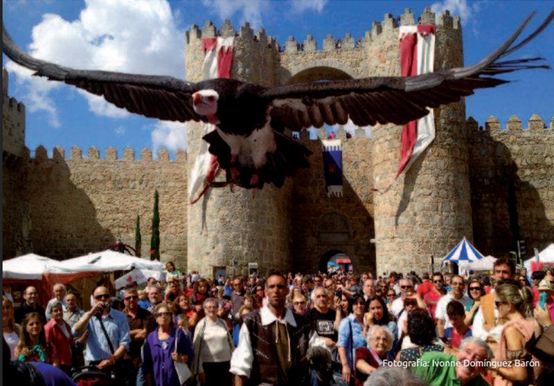 Imagen procedente del Programa Oficial Mercado Medieval de Avila – Turismo de Ávila. Fotografía de Ivonne Dominguez Varón