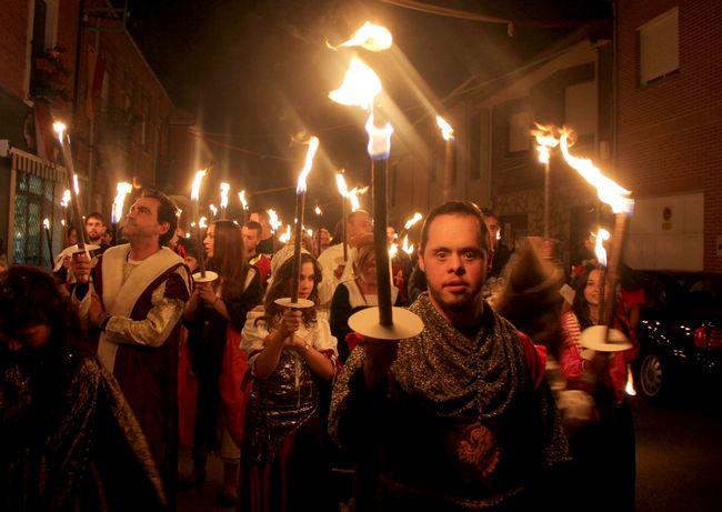 desfile de antorchas Zamora Fuente: www.leonoticias.com