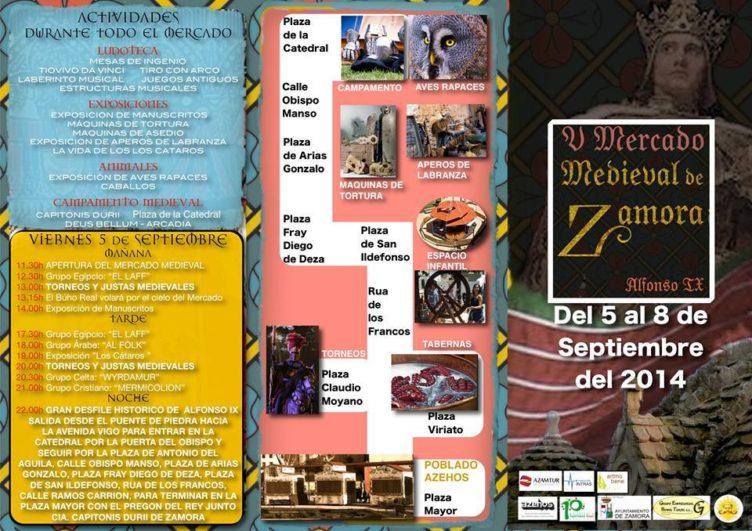 programa Mercado medieval Zamora II