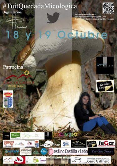 Cartel Tuit Quedada Micológica
