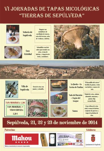 Cartel VI Jornadas de Tapas Micológicas - Tierras de Sepúlveda