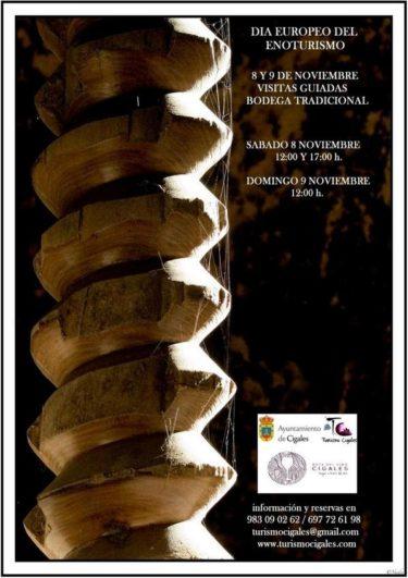 Cartel Día del Enoturismo en Cigales