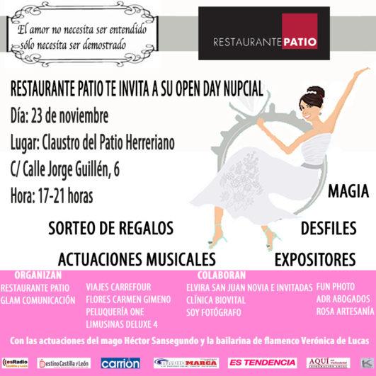 Open day nupcial 23 noviembre Patrio Herreriano