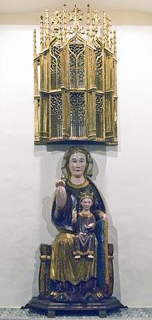 Turismo en Palencia, Virgen con el niño en el museo de arte sacro de Palencia