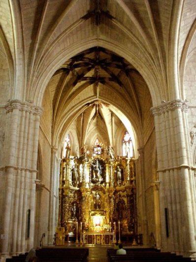 Turismo en Palencia, Interior de la Iglesia de las Clarisas de Palencia